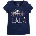 OshKoshB`gosh - Девичья футболка с велосипедом
