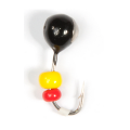 Lucky John - Мормышка уловистая набор 5 штук Шар с отв. коронкои и бисером 040 мм