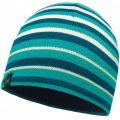 Buff - Шапка для отдыха Knitted & Polar Hat Laki Stripes Lake Blue