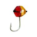 Lucky John - Мормышка цветная набор 5 штук Круглая гран. с отв. кембр. и Swarovski 040 мм