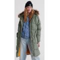 Superdry - Длинное объемноа пальто Luxe Longline Puffer