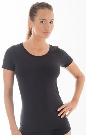 Футболка Brubeck Comfort Wool M Black LS12150 женская
